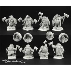 28mm/30mm Dwarves Rangers Set 2 (4)