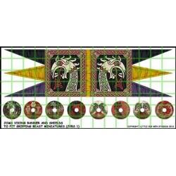 Jomsviking Banner & Shield Transfers