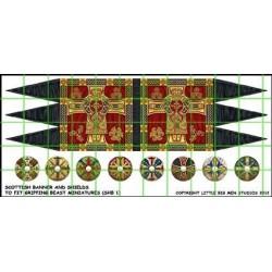 Scots Banner & Shield Transfers