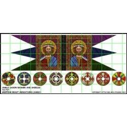 Anglo Saxon Banner & Shield Transfers