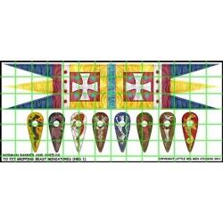 Norman Banner & Shield Transfers