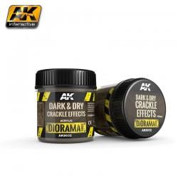 Dark & Dry Crackle Effects - 100ml (Acrylic)