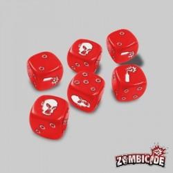 Dados Zombies Rojo