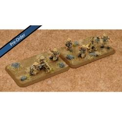 Desert Rats HMG Platoon & Mortar Section (4 HMG, 2 Mortars) Plastic