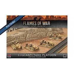 Desert Rats 6pdr Anti-tank Platoon (4) Plastic