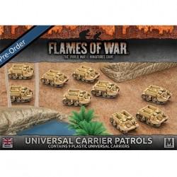 Desert Rats Universal Carrier Patrols (9) Plastic