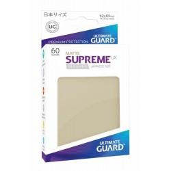 Ultimate Guard Supreme Sleeves Fundas UX de Cartas Tamaño Japonés Beige Mate (60)