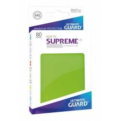 Supreme UX Sleeves Fundas de Cartas Tamaño Estándar Verde Claro Mate (80)