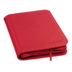 4-Pocket ZipFolio XenoSkin Carpeta para Cartas Rojo
