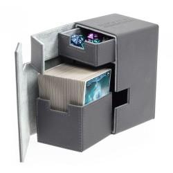 Flip'n'Tray Deck Case 100+ Caja de Cartas Tamaño Estándar XenoSkin Gris