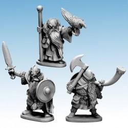 Dwarf Characters King, Wizard & Musician