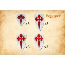 Santiago Order Shields (12 shields)