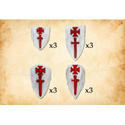 Livonian Order Shields Type 1 (12 shields)