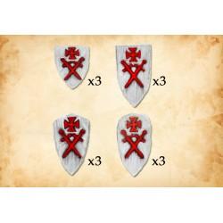 Livonian Order Shields Type 2 (12 shields)