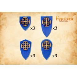 The Order of Jerusalem shields (12 shields)