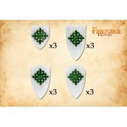 Alcantara/Calatrava Order Shields (12 shields)