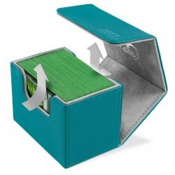 SideWinder 100+ Caja de Cartas Tamaño Estándar XenoSkin Gasolina Azul