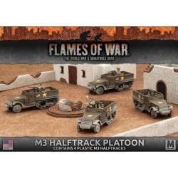 M3 Halftrack Transport Platoon (4x plastic)