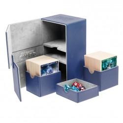 Twin Flip'n'Tray 160+ Caja de Cartas Tamaño Estándar XenoSkin Azul
