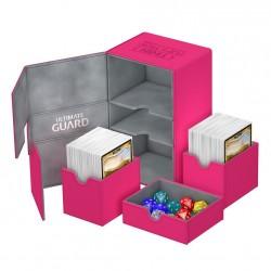 Twin Flip'n'Tray 160+ Caja de Cartas Tamaño Estándar XenoSkin Fucsia