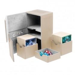Twin Flip'n'Tray 160+ Caja de Cartas Tamaño Estándar XenoSkin Beige