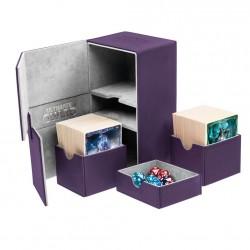 Twin Flip'n'Tray 160+ Caja de Cartas Tamaño Estándar XenoSkin Violeta