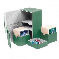 Twin Flip'n'Tray 160+ Caja de Cartas Tamaño Estándar XenoSkin Verde