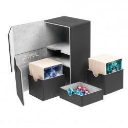 Twin Flip'n'Tray 160+ Caja de Cartas Tamaño Estándar XenoSkin Negro