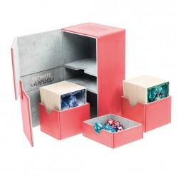 Twin Flip'n'Tray 160+ Caja de Cartas Tamaño Estándar XenoSkin Rojo