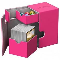 Flip'n'Tray Deck Case 100+ Caja de Cartas Tamaño Estándar XenoSkin Fucsia