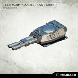Legionary Assault Tank Turret: Twin Lascannon (1)