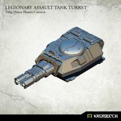 Legionary Assault Tank Turret: Twin Heavy Flamer Cannon (1)