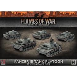 Panzer III Platoon (x5 Plastic)