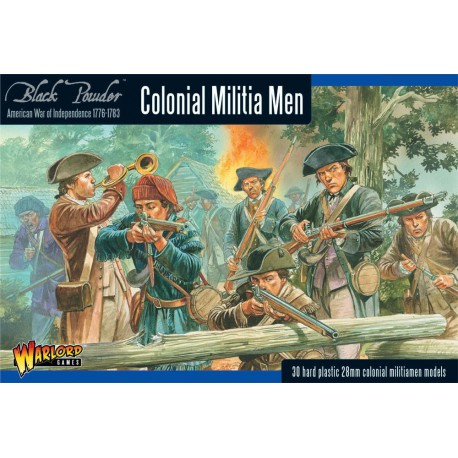 AWI Colonial Militia Men (Plastic Box)