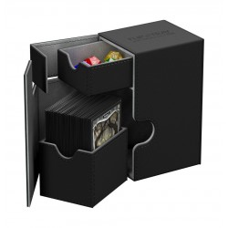 Flip'n'Tray 80+ Caja de Cartas Tamaño Estándar XenoSkin Negro