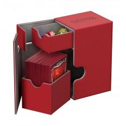 Flip'n'Tray 80+ Caja de Cartas Tamaño Estándar XenoSkin Rojo