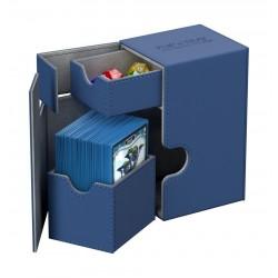 Flip'n'Tray 80+ Caja de Cartas Tamaño Estándar XenoSkin Azul