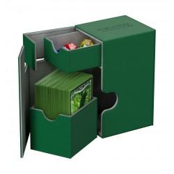 Flip'n'Tray 80+ Caja de Cartas Tamaño Estándar XenoSkin Verde