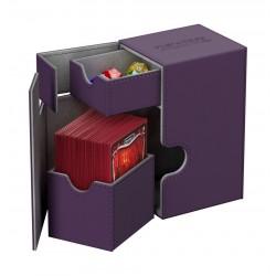 Flip'n'Tray 80+ Caja de Cartas Tamaño Estándar XenoSkin Violeta