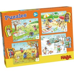 4 Puzzles Las 4 Estaciones (Spanish)