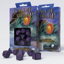 Call of Cthulhu Horror on The Orient Express Black-purple Dice Set