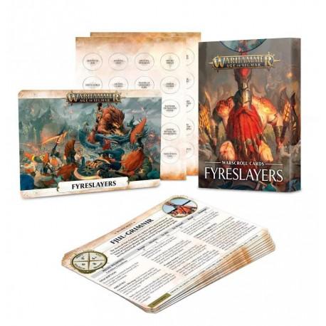 Warscroll Cards: Fyreslayers (Inglés)