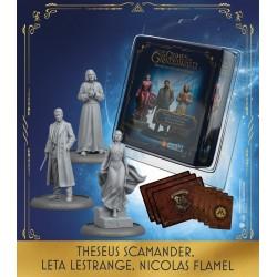 Theseus Scamander, Leta Lestrange, Nicolas Flamel (Spanish)