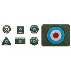 D-Day British Late War Tokens (x20) and Objectives (x2)