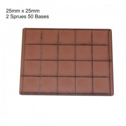 25x25mm Bases Brown (40)