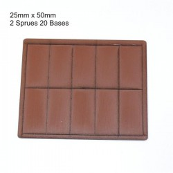 25x50mm Bases Brown (20)