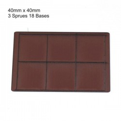 40x40mm Bases Brown (18)