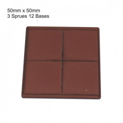 50x50mm Bases Brown (12)