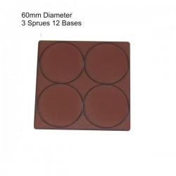60mm Diameter Bases Brown (12)