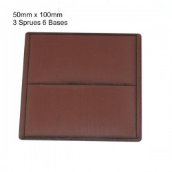 50x100mm Bases Brown (6)